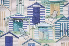 richloom solarium beach hut printed poly outdoor fabric in pool 8 95 per yard