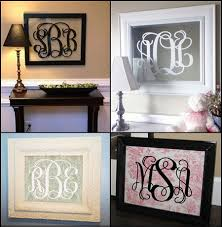 monogram fancy scroll initials vinyl wall decal sized for 16x20 frame or mirror 22 00 via etsy  on framed monogram letter wall art with monogram fancy scroll initials vinyl wall decal sized for 16x20