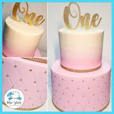 Pink Ombre Quilted Fondant 1st Birthday Cake NJ | Blue Sheep Bake Shop & Cakes. Buttercream & Fondant Specialty Cakes Adamdwight.com