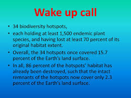 biodiversity biodiversity hotspots ppt video online  wake up call 34 biodiversity hotspots