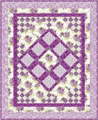 Scent of Lavender Quilt Pattern SM-119 (intermediate, lap, throw) & Scent of Lavender Quilt Pattern- Straight to the Point Series - SM-119 Adamdwight.com
