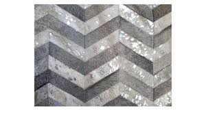 silver metallic rug metallic hide rug grey and silver on white chevron hide rug silver metallic silver metallic rug