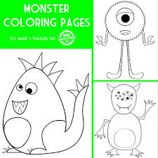 Small Picture Monster Coloring Pages