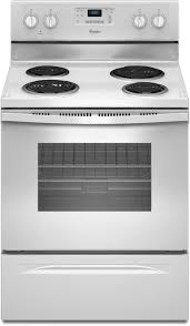 whirlpool wfc310s0ew 30 inch freestanding electric range with 4 coil elements 2 600 watts 4 8 cu ft traditional oven self cleaning system and accubake