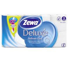 <b>Туалетная бумага ZEWA Deluxe</b> 3-слойная, 8 рулонов