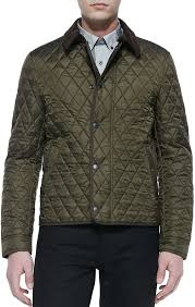 Burberry Brit Corduroy Collar Quilted Nylon Jacket Olive | Where ... & ... Burberry Brit Corduroy Collar Quilted Nylon Jacket Olive ... Adamdwight.com