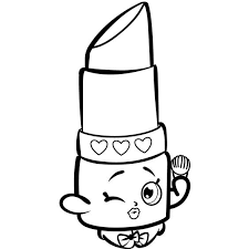Lipstick Coloring Pages Shopkins Lipstick Free Coloring Page Kids