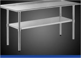 Fascinating Stainless Steel Kitchen Work Tables Open Base Commercial