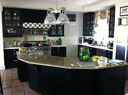 beautiful dark kitchens. Black Cabinets. Kitchen Was Originally Stained A Dark Grey Beautiful Kitchens