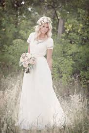 Airy Lace Modest Wedding Gown Beautifully Hair Dress Bouquet