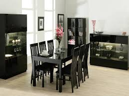 stunning glass black dining table set and 6 faux leather chairs black dining table chairs
