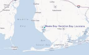 Weeks Bay Tide Chart Weeks Bay Vermilion Bay Louisiana Tide Station Location Guide