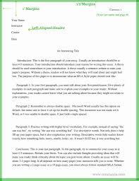 Mla Format Paper Template Stcharleschill Template