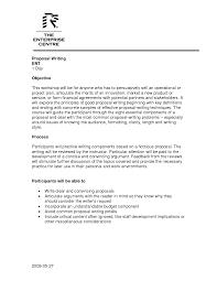Writing A Proposal Example Written Proposal Samples Barca Fontanacountryinn Com