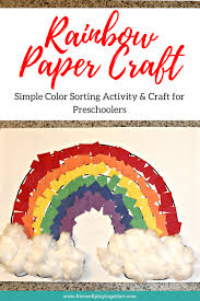 Rainbow Paper Craft for Kids - Live Well Play Together