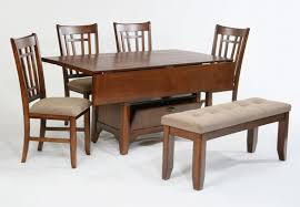 Compact Dining Space Arrangement With Drop Leaf Dining Table Small