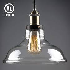 clear glass pendant lights. LEONLITE Industrial Clear Glass Pendant Light Fixture With Retro Lamp Shade Lights