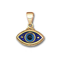 14k solid gold hot enamel charm pendant