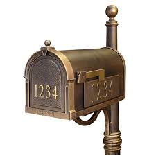 residential mailboxes side view. Berkshire Curbside Mailbox With Front And Side Numbers Residential Mailboxes View T