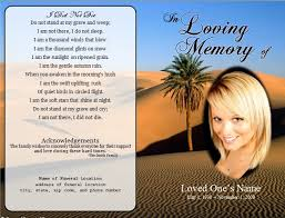 Memorial Announcement Cards Funeral Funeral Announcement Cards Single Fold Funeral Card Template
