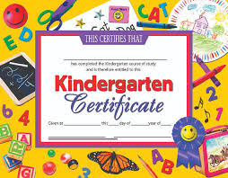 Hayes Kindergarten Certificate 11 X 8 1 2 Inches Paper Pack Of 30