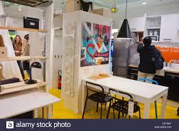 paris france advertising furniture shopping ikea furniture store installation CC74NY