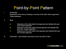 argumentative essays point by point patterni
