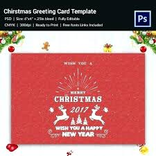 Christmas Card Template Psd Elements Card Templates Template Luxury