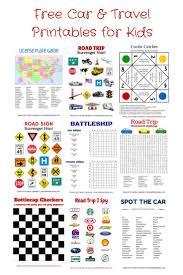 free car travel printables hangman tic tac toe battleship license plate game road trip i spy scavenger hunts cootie catcher and more