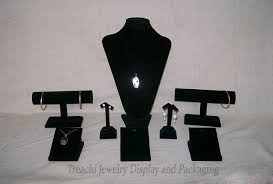 Black Velvet Jewelry Display Stands Black Velvet Jewelry Display Props Kit Wood Counter Display Stand 33