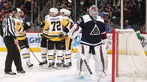 Hockey Score Sheet Beauteous Patric Hornqvist Powers Penguins Past Avalanche