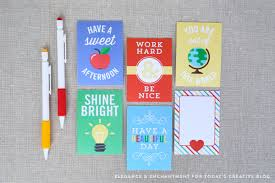 Free Printable Note Cards Free Printable Lunch Box Note Cards Todays Creative Life