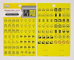 fuse box circuit breaker organiser labels (2 sheets) amazon co uk fuse box labels fuse box circuit breaker organiser labels (2 sheets)