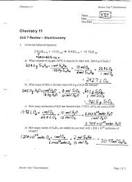 Stoichiometry Practice Worksheet Answers - Checks Worksheet