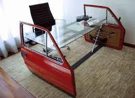 car part furniture car doors recycle desk