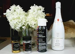 diy glitter champagne the best gift decor idea ever hustleandhalcyon
