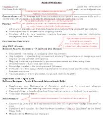 Example Of A Good Resume Format | Dadaji.us