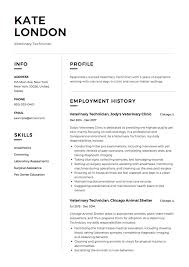 Veterinary Resume Samples 100 Veterinary Technician Resume Templates ResumeViking 80
