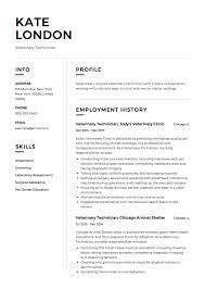 12 Veterinary Technician Resume Templates Resumeviking Com