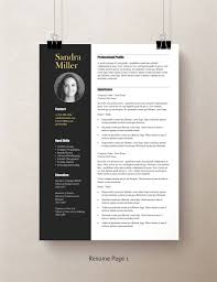 Contemporary Resume Template, Professional Resume Template Word