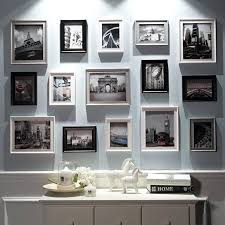silver picture frame set silver wall
