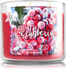 frosted cranberry candle bath and body works frosted cranberry 3 wick candle home fragrance 1037181 bath