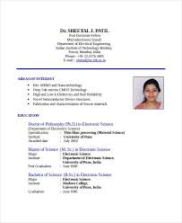 Indian Student Resume Format For Job Gentileforda Com