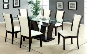 glass dining sets 6 chairs 7 piece glass dining table sets gallery dining with glass top