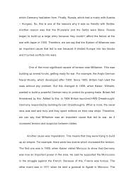 war in europe model essays example research essay topic cause of wwi european alliances