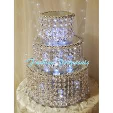wedding cakes with lights. Plain Wedding Wedding Crystal Cake Stand 3 Tier Crystal The Vase And 2  Separators Intended Cakes With Lights N