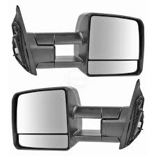 Towing Mirror Power Heated LED Signal Black Pair Set for Toyota ...