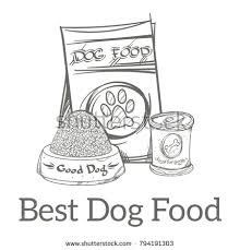 flyers logo outline dog food outline vector illustration isolated stock vector 794191303