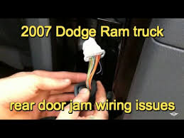 2007 dodge ram 3500 door wiring problem 2007 dodge ram 3500 door wiring problem
