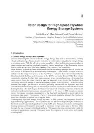 Pdf Rotor Design For High Speed Flywheel Energy Storage Systems